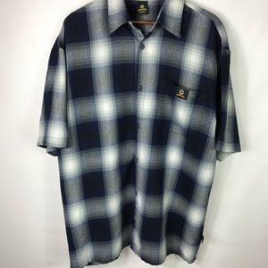 Lowrider Plaid Short Sleeve Button Down X-Large